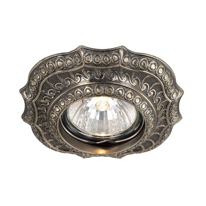 Встраиваемый светильник Novotech Vintage 369855, 1xGU5.3x50W, бронза, металл - фото 1