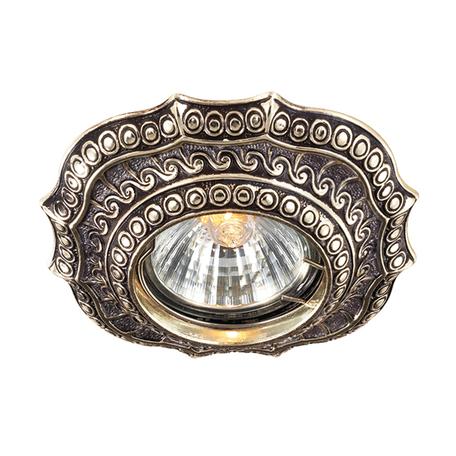 Встраиваемый светильник Novotech Vintage 369857, 1xGU5.3x50W, коричневый, металл