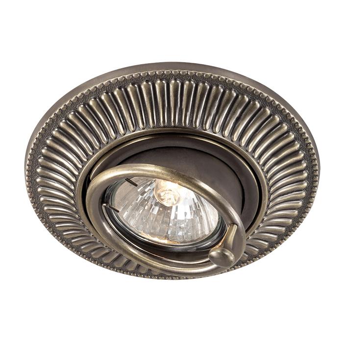 Встраиваемый светильник Novotech Spot Vintage 369858, 1xGU5.3x50W, бронза, металл - фото 1