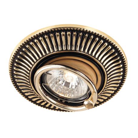 Встраиваемый светильник Novotech Vintage 369860, 1xGU5.3x50W, коричневый, золото, металл