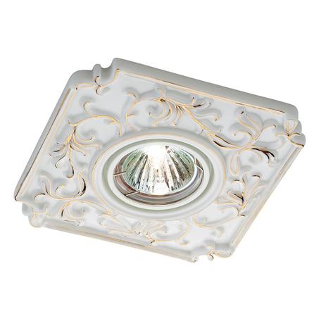 Встраиваемый светильник Novotech Farfor 369866, 1xGU5.3x50W, белый, золото, керамика