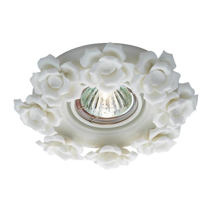 Встраиваемый светильник Novotech Spot Farfor 369870, 1xGU5.3x50W, белый, керамика - фото 1