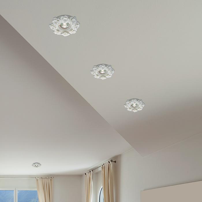 Встраиваемый светильник Novotech Spot Farfor 369870, 1xGU5.3x50W, белый, керамика - фото 2
