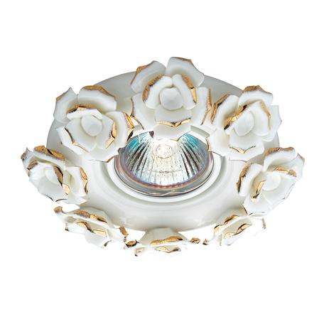 Встраиваемый светильник Novotech Farfor 369871, 1xGU5.3x50W, белый, золото, керамика