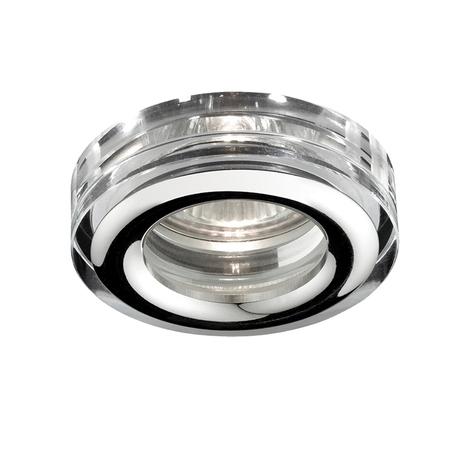 Встраиваемый светильник Novotech Spot Aqua 369879, IP54, 1xGU5.3x50W, хром, прозрачный, хрусталь, стекло