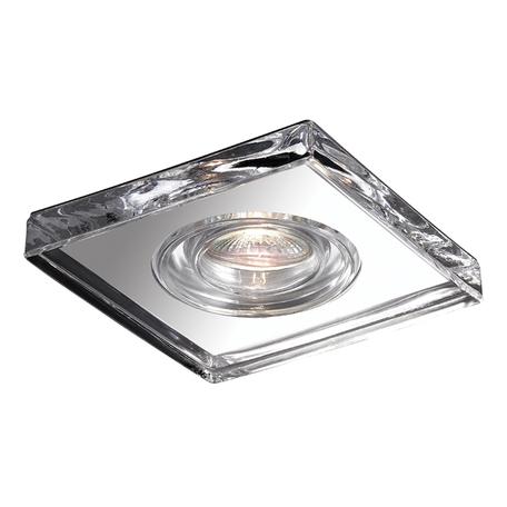 Встраиваемый светильник Novotech Aqua 369884, IP54, 1xGU5.3x50W, хром, прозрачный, хрусталь, стекло