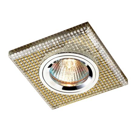 Встраиваемый светильник Novotech Shikku 369903, 1xGU5.3x50W, золото, хрусталь - миниатюра 1