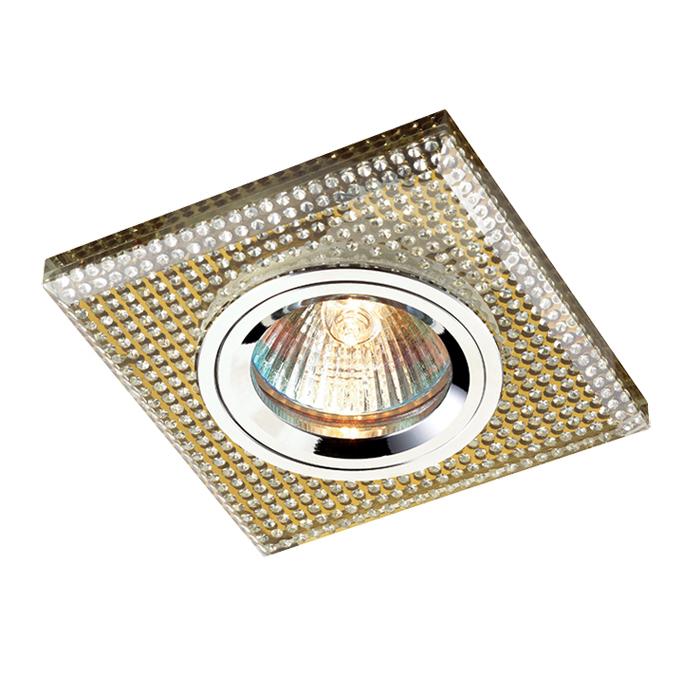 Встраиваемый светильник Novotech Shikku 369903, 1xGU5.3x50W, золото, хрусталь - фото 1
