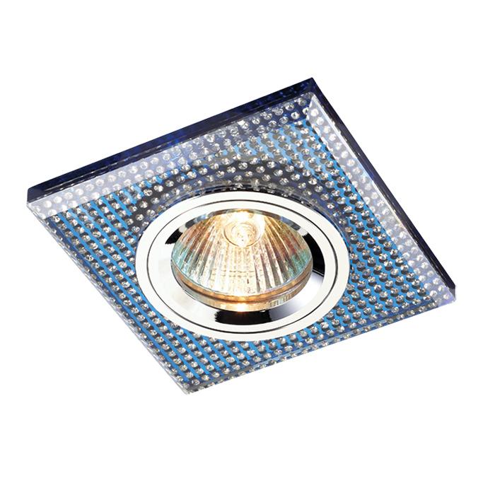 Встраиваемый светильник Novotech Shikku 369904, 1xGU5.3x50W, синий, хрусталь - фото 1