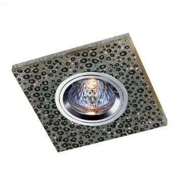 Встраиваемый светильник Novotech Shikku 369906, 1xGU5.3x50W, серый, хрусталь