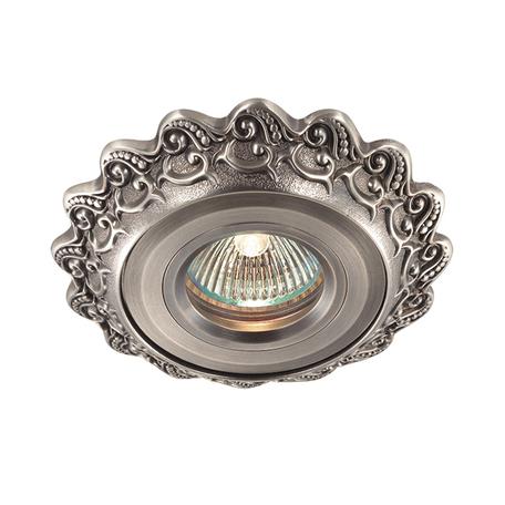 Встраиваемый светильник Novotech Vintage 369931, 1xGU5.3x50W, никель, металл