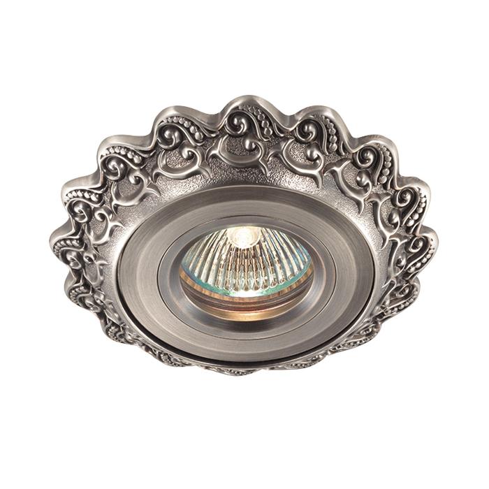 Встраиваемый светильник Novotech Vintage 369931, 1xGU5.3x50W, никель, металл - фото 1