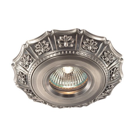 Встраиваемый светильник Novotech Vintage 369934, 1xGU5.3x50W, никель, металл
