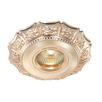Встраиваемый светильник Novotech Vintage 369935, 1xGU5.3x50W, золото, металл