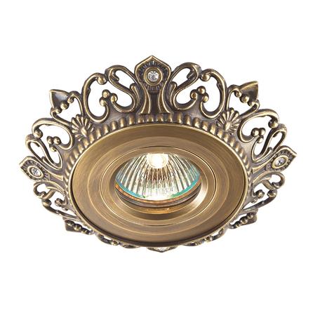 Встраиваемый светильник Novotech Vintage 369939, 1xGU5.3x50W, бронза, металл
