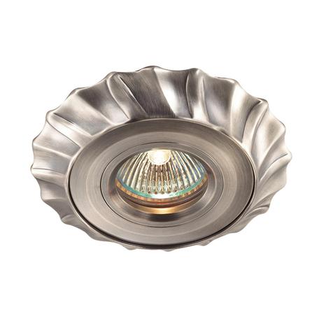 Встраиваемый светильник Novotech Vintage 369943, 1xGU5.3x50W, никель, металл