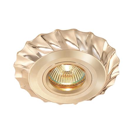 Встраиваемый светильник Novotech Vintage 369944, 1xGU5.3x50W, золото, металл