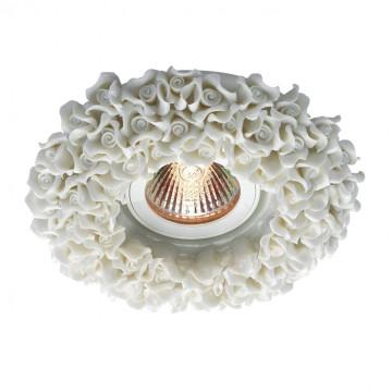 Встраиваемый светильник Novotech Farfor 369948, 1xGU5.3x50W, белый, керамика