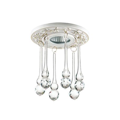 Встраиваемый светильник Novotech Pendant 369959, 1xGU5.3x50W, белый, золото, прозрачный, керамика, хрусталь