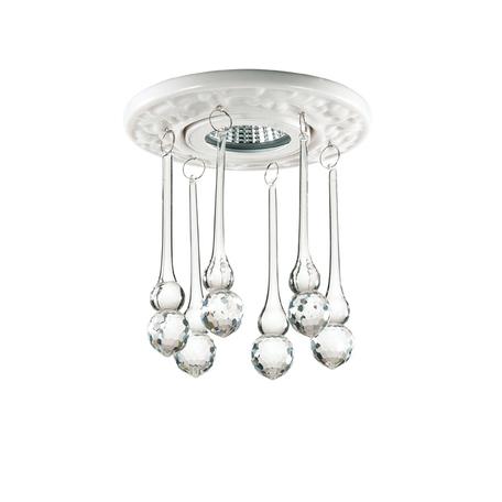 Встраиваемый светильник Novotech Pendant 369960, 1xGU5.3x50W, белый, прозрачный, керамика, хрусталь