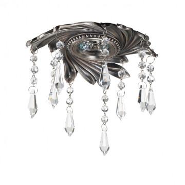 Встраиваемый светильник Novotech Grape 369968, 1xGU5.3x50W, никель, прозрачный, металл, хрусталь