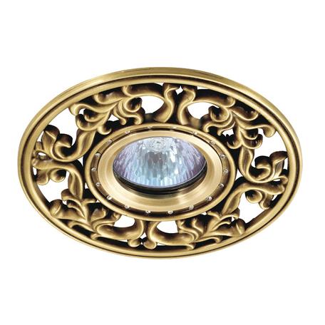 Встраиваемый светильник Novotech Spot Vintage 369987, 1xGU5.3x50W, бронза, металл с хрусталем