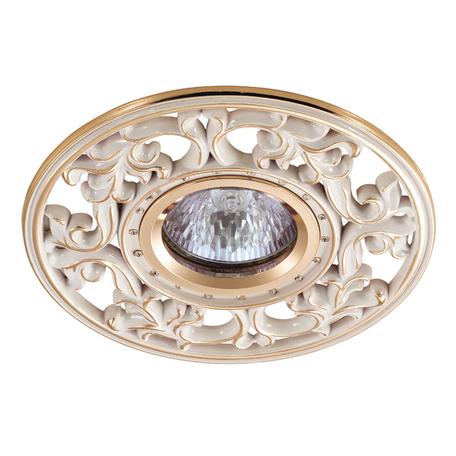 Встраиваемый светильник Novotech Spot Vintage 369989, 1xGU5.3x50W, золото, металл с хрусталем