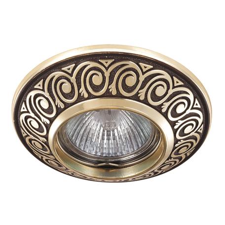 Встраиваемый светильник Novotech Vintage 370002, 1xGU5.3x50W, коричневый, металл