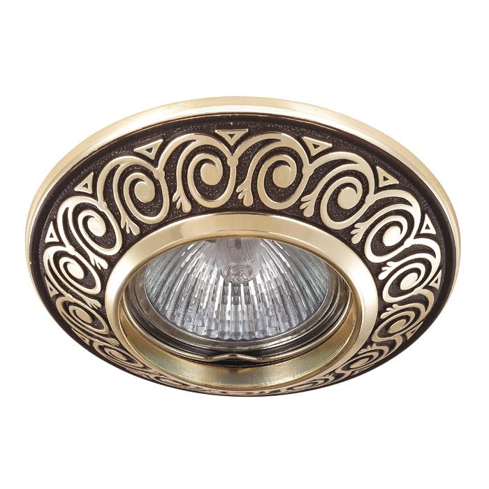Встраиваемый светильник Novotech Spot Vintage 370002, 1xGU5.3x50W, коричневый, металл - фото 1
