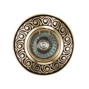 Встраиваемый светильник Novotech Spot Vintage 370002, 1xGU5.3x50W, коричневый, металл - миниатюра 2