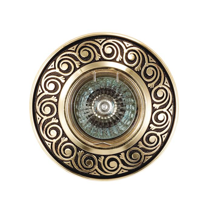 Встраиваемый светильник Novotech Spot Vintage 370002, 1xGU5.3x50W, коричневый, металл - фото 2