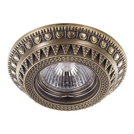 Встраиваемый светильник Novotech Spot Vintage 370006, 1xGU5.3x50W, бронза, металл
