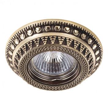 Встраиваемый светильник Novotech Spot Vintage 370008, 1xGU5.3x50W, коричневый, золото, металл