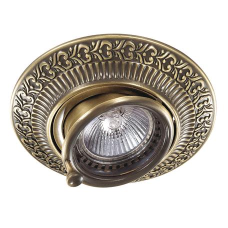 Встраиваемый светильник Novotech Vintage 370015, 1xGU5.3x50W, бронза, металл