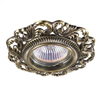 Встраиваемый светильник Novotech Vintage 370024, 1xGU5.3x50W, бронза, металл