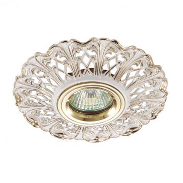 Встраиваемый светильник Novotech Vintage 370033, 1xGU5.3x50W, золото, металл