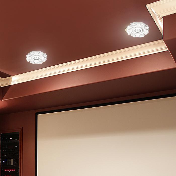 Встраиваемый светильник Novotech Spot Farfor 370041, 1xGU5.3x50W, белый, серебро, керамика - фото 2