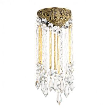 Встраиваемый светильник Novotech Pendant 370054, 1xGU5.3x50W, бронза, золото, прозрачный, металл, хрусталь
