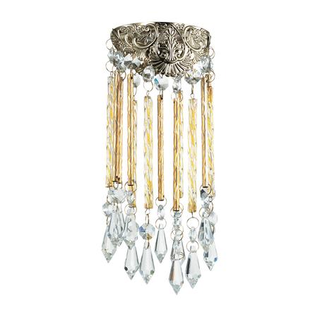 Встраиваемый светильник Novotech Pendant 370057, 1xGU5.3x50W, золото, прозрачный, металл, хрусталь