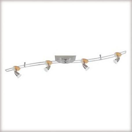 Потолочный светильник с регулировкой направления света Paulmann 3661, 4xGU5.3x35W, металл, дерево