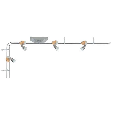 Потолочный светильник с регулировкой направления света Paulmann 3662, 4xGU5.3x35W, металл, дерево