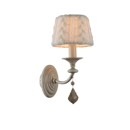 Бра Maytoni Lana ARM143-01-BG, 1xE14x40W, бежевый, белый, металл, текстиль, стекло