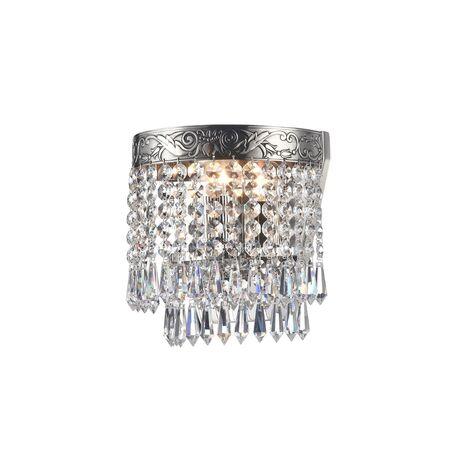 Бра Maytoni Palace DIA890-WL-01-N, 1xE27x60W, черненое серебро, прозрачный, металл, хрусталь