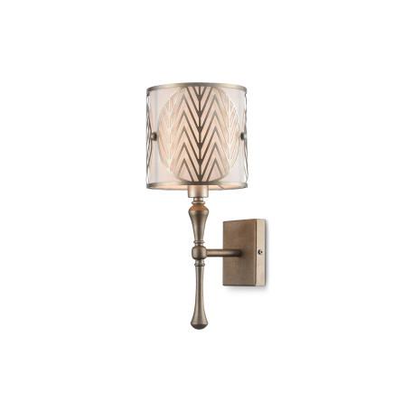 Бра Maytoni Neoclassic Leaf H425-WL-01-G, 1xE14x40W, матовое золото, металл, металл с текстилем, текстиль с металлом