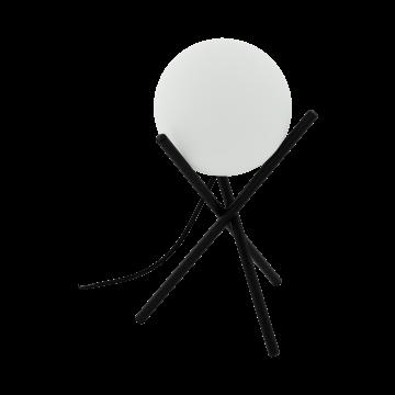 Настольная лампа Eglo Castellato 97333, 1xE14x28W, черный, белый, металл, стекло