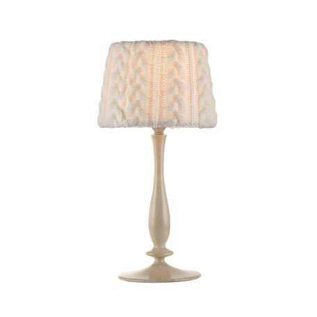 Настольная лампа Maytoni Lana ARM143-22-BG, 1xE14x40W, бежевый, белый, металл, текстиль