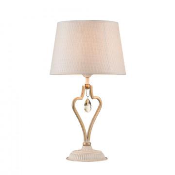 Настольная лампа Maytoni Enna ARM548-11-WG, 1xE27x40W, белый с золотой патиной, матовое золото, белый, коньячный, металл, пластик