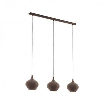 Подвесной светильник Eglo Camborne 97216, 3xE27x60W, коричневый, металл