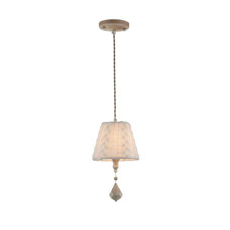 Подвесной светильник Maytoni Lana ARM143-11-BG, 1xE14x40W, бежевый, белый, металл, текстиль, стекло