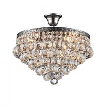 Потолочная люстра Maytoni Gala DIA783-CL38-6-N, 6xE27x60W, никель, прозрачный, металл, стекло